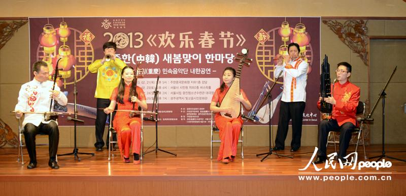 演奏家正在演奏——民乐小合奏《花好月圆》 摄影:孙伟东