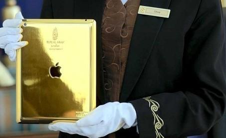 迪拜七星級酒店推黃金IPAD 每名房客都能用(圖)