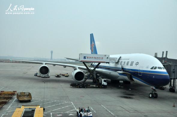 2013年6月2日18时20分,中国南方航空公司cz3999航班从广州飞抵北京