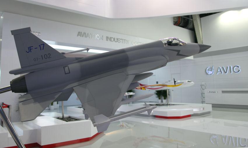 """17""""雷电"""")单座战斗机模型图片:中国航空工业集团公司"""