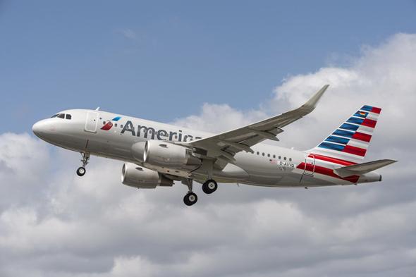 美国航空公司接收的首架空客a320系列飞机