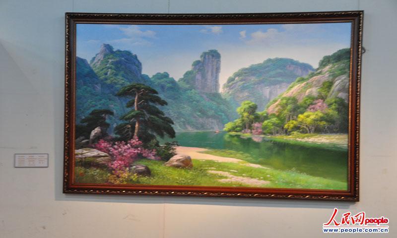 高清:朝鲜美术作品展 150余幅作品栩栩如生【35】图片