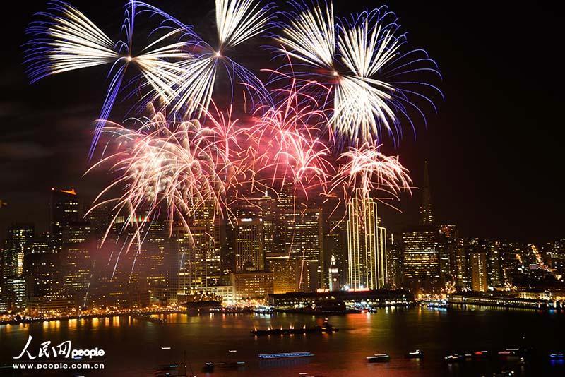 美旧金山烟火秀迎2014年【3】