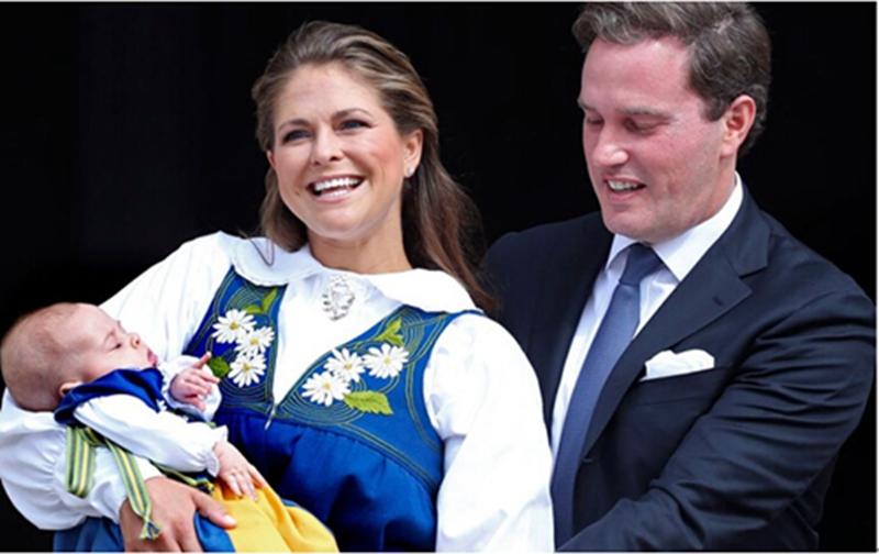 玛德莲/玛德莲公主,丈夫及女儿图片来源:斯德哥尔摩《地铁报》