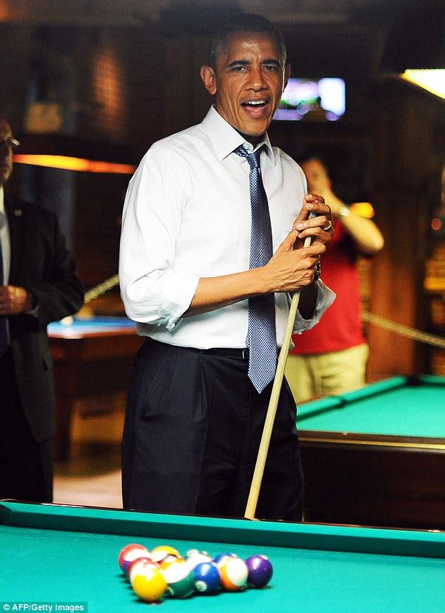丹佛/奥巴马访问丹佛大秀台球技术遭马头人抢镜(图)【4】