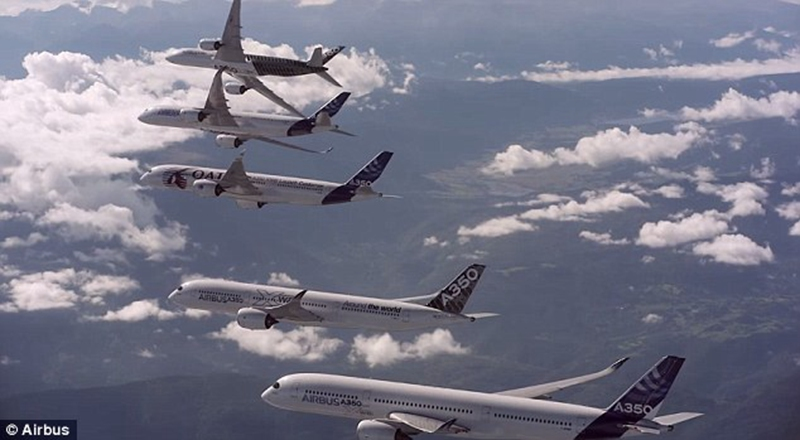 50大型客机编队飞行