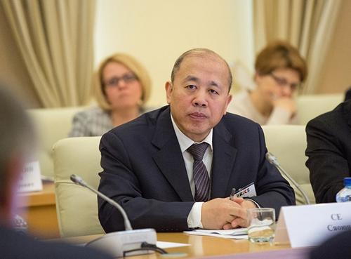 中国驻俄罗斯使馆公使谢小用(人民网记者 屈海齐 摄)