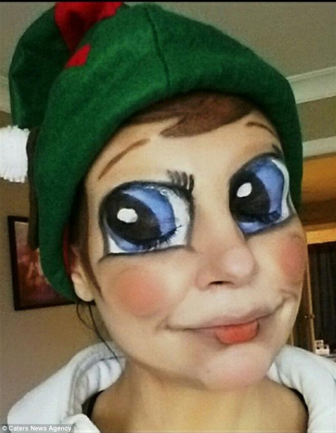 圣诞儿童人脸彩绘图片大全