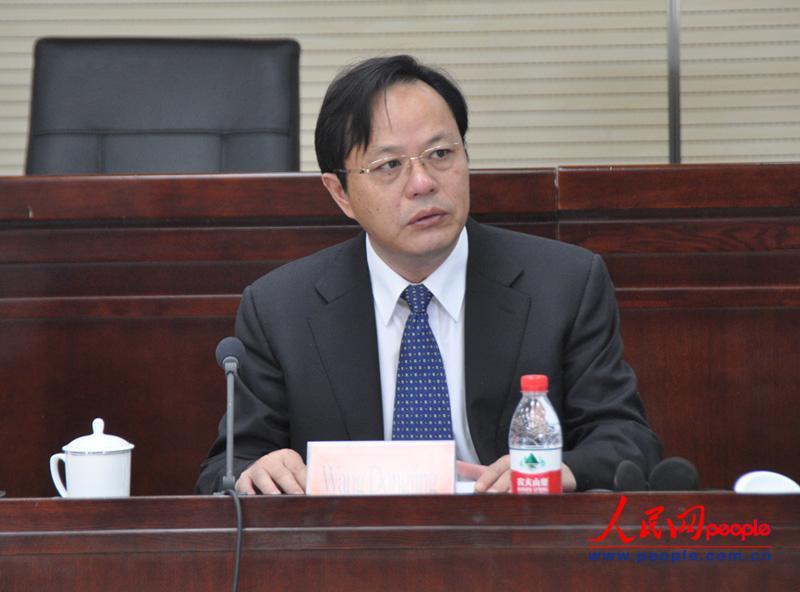 中央党校副校长王东京致辞。(实习生 赵京文摄)
