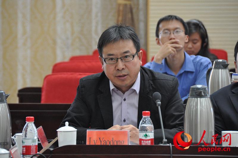 中国社会科学院日本研究所外交研究室主任吕耀东发言。(实习生 赵京文摄)