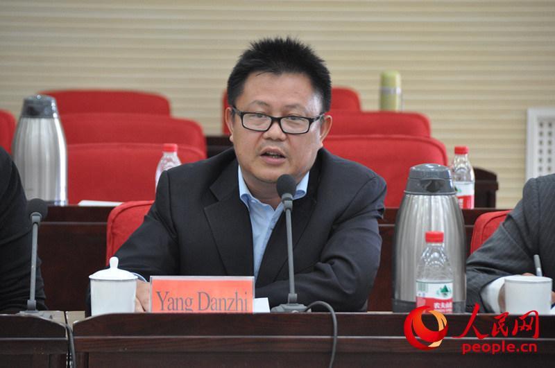 中国社会科学院地区安全研究中心主任助理杨丹志发言。(实习生 赵京文摄)