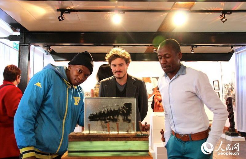 """高清:南非中国年""""交错与融合""""艺术展在约翰内斯堡开幕"""