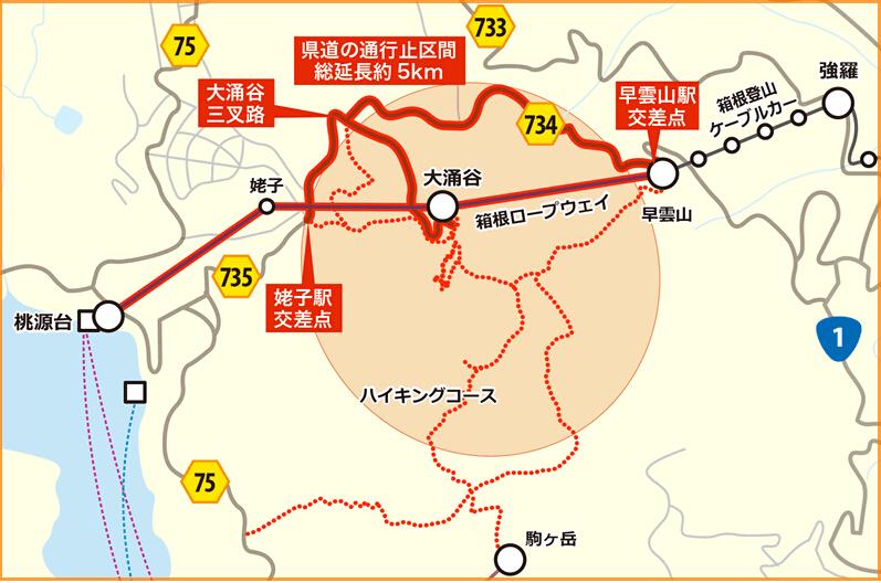 日本箱根地区部分温泉断水 火山喷发预警升至