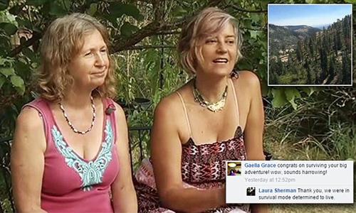 俩美国女人被困野外 靠喝尿与吃草坚持5天获