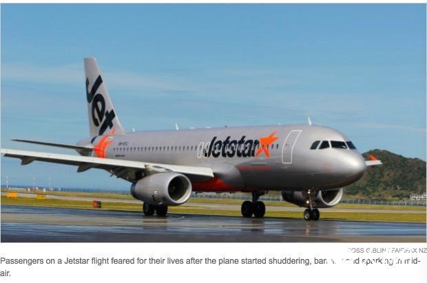 新西兰捷星航空飞机起飞后上演了空中惊魂