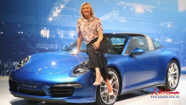 莎拉波娃是德国汽车保时捷的形象大使