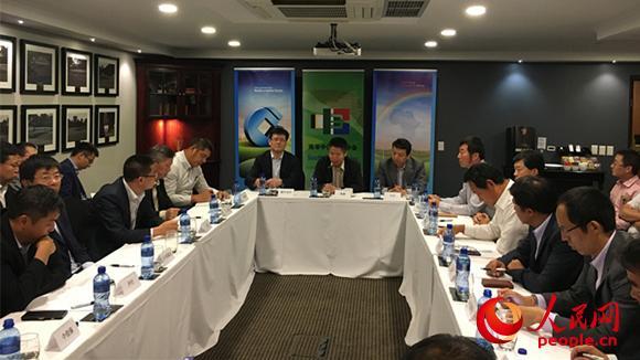 由南非中国经贸协会主办、中国建设银行约翰内斯堡分行承办的首届银企座谈会25日举行。(徐延子 摄)