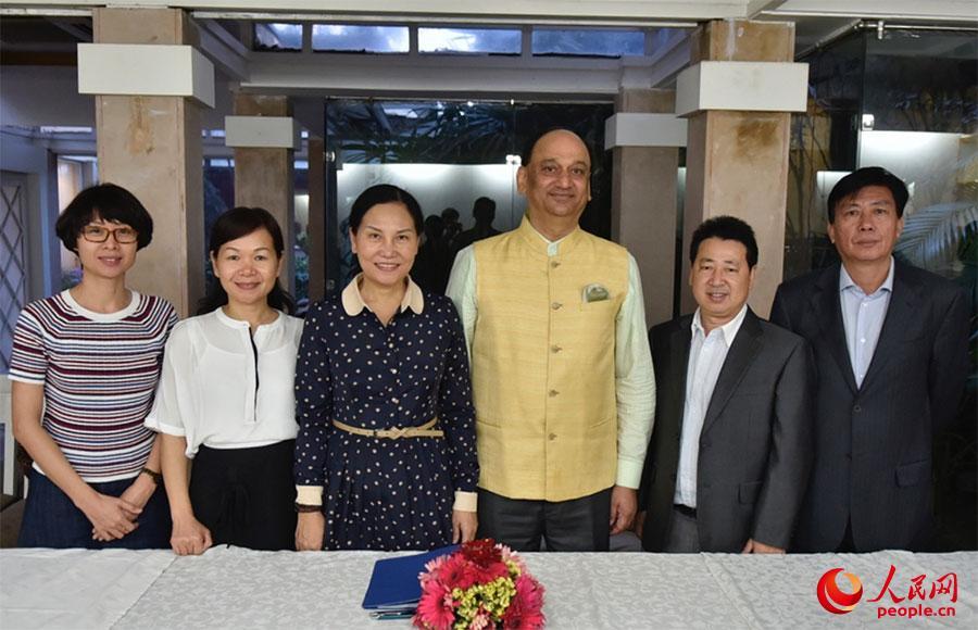 海南三亚代表团访印洽谈商贸