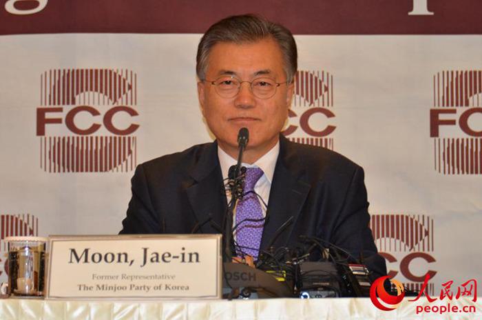 韩国三大电视台预测文在寅将当选总统