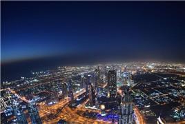 俯瞰迪拜 夜色迷人