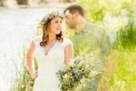 未婚夫去世 新娘合成婚纱照