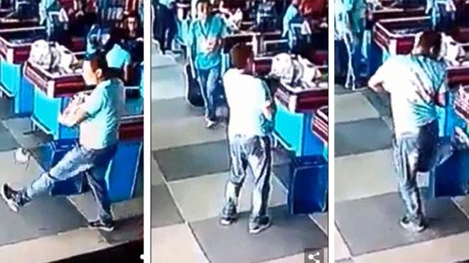 高手在民间!巴西超市员工接掉落商品 无意间炫足球技能