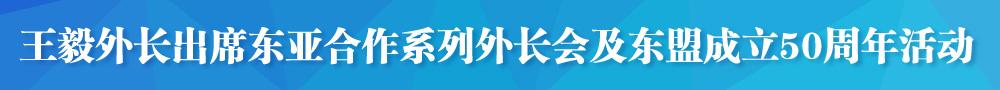 王毅出席东亚合作系列外长会和东盟成立50周年活动