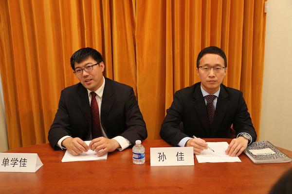 当地时间8月9日下午,中国驻旧金山总领馆召开记者会,就不法分子进行电信诈骗一事发布声明及提醒。人民网 张洁娴 摄