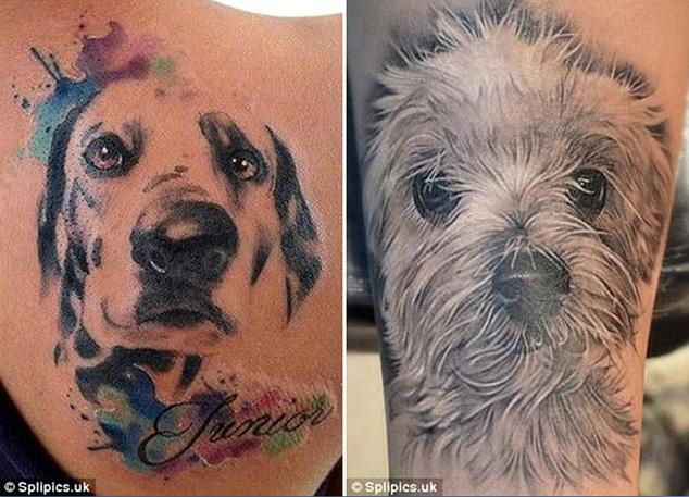 狗主人通过纹身表达他们对自己宠物的喜爱图片