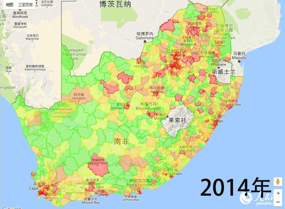 普通抢劫案件主要集中在人口密集的大中城市?-南非警方公布2017年
