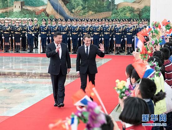 法国总统马克龙访华全纪录