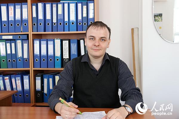 哈萨克斯坦-德国大学国际问题专家伊戈里・伊万诺夫(记者周翰博摄)