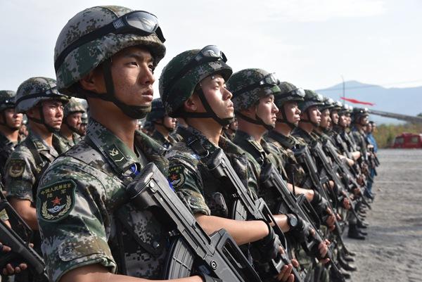 """""""金龙-2018""""中柬反恐联合训练暨人道主义救援正式开始"""