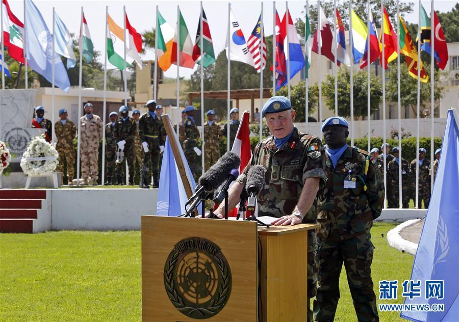3月19日,在黎巴嫩南部纳古拉镇,联合国驻黎巴嫩临时部队司令迈克尔・比尔里在活动中致辞。