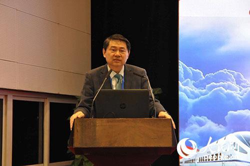 中国与全球化智库理事长兼主任、国务院参事王辉耀发言。李阿茹娜摄影