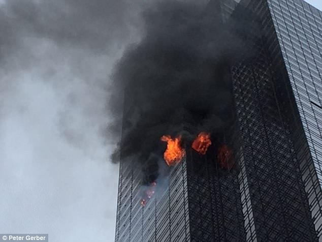 纽约特朗普大厦起火 1死4伤