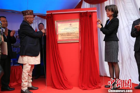 中国援助照亮尼泊尔政府大院