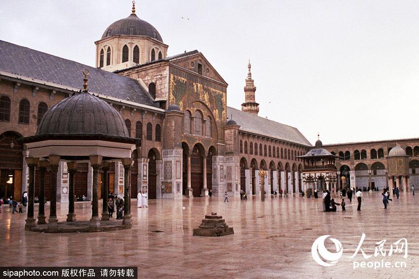 叙利亚大马士革,倭马亚清真寺。(图片为Sipa版权作品 请勿转载)