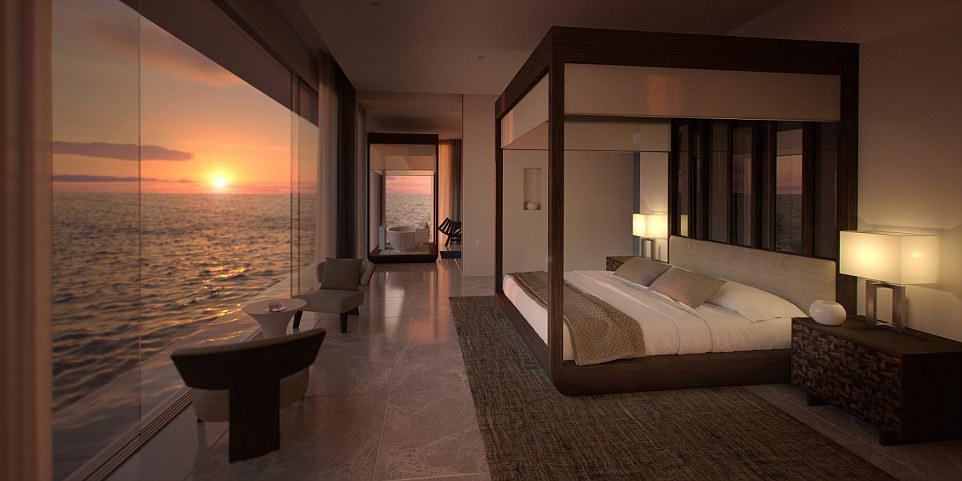 让鱼儿伴你入睡!首座水下别墅将在马尔代夫建