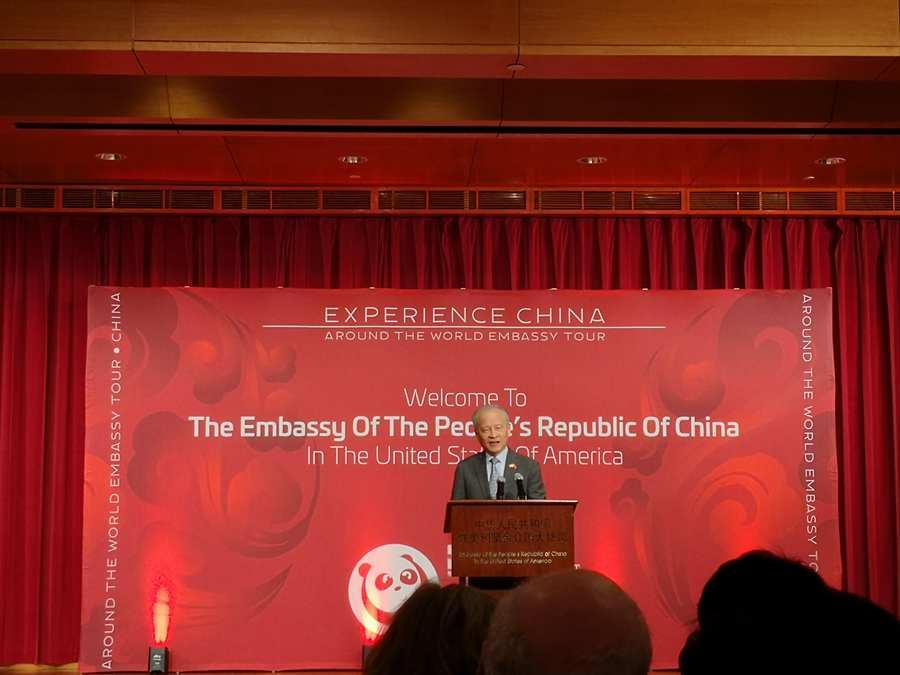 5月5日,中国驻美国大使馆举行公众开放日活动。数千名美国民众走进使馆,零距离感受当代中国的精彩魅力。张梦旭摄