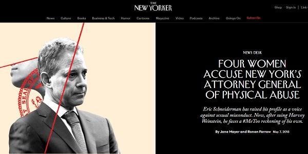 《纽约客》网站报道截屏
