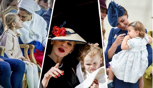 母亲节到来 盘点王室妈妈与萌娃的互动日常