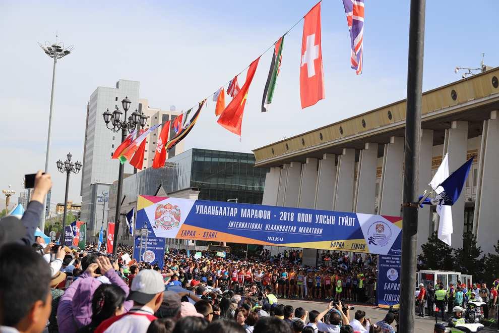 5月19日乌兰巴托国际马拉松现场。