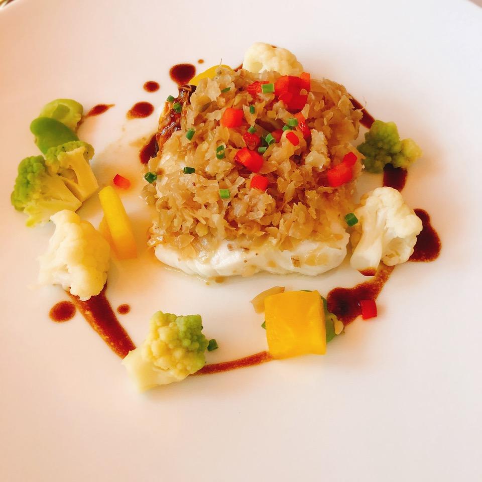 冬菜蒸鳕鱼。巴黎中国文化中心供图