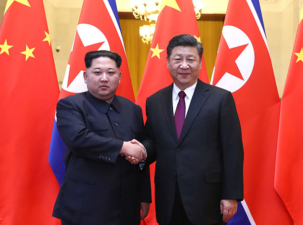 不到一年四次会晤中朝领导人都谈了什么?
