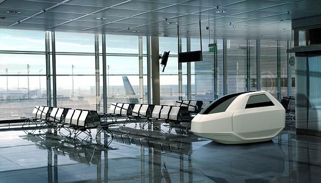 可让旅客在登机前补充睡眠的机场胶囊舱