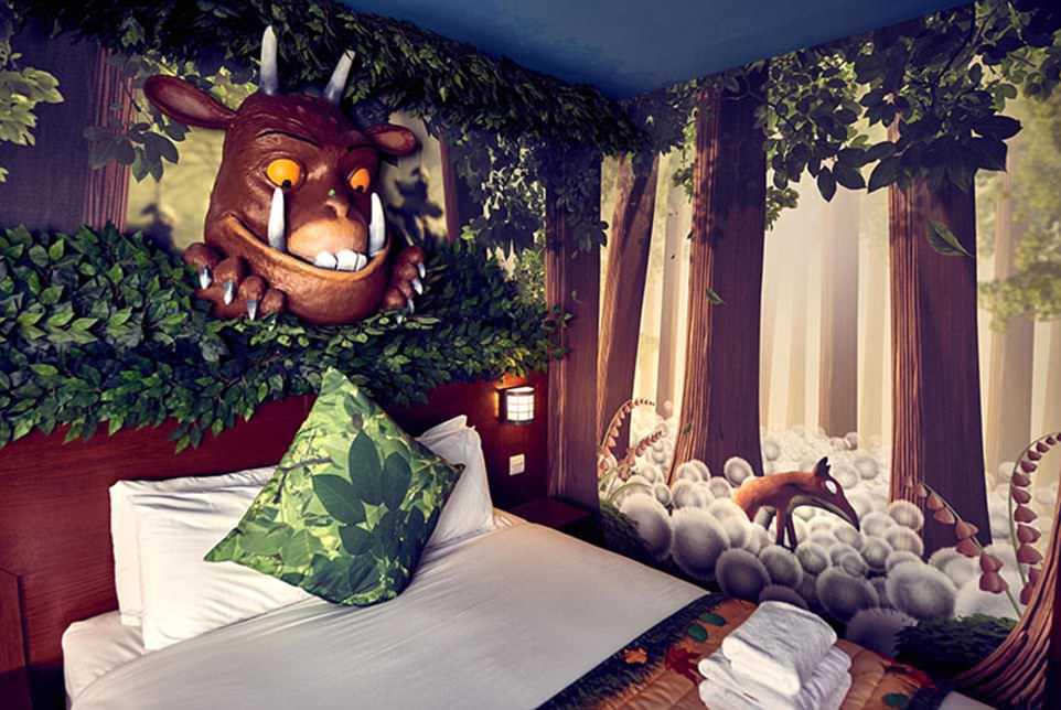 咕噜牛主题客房,切斯顿野生动物园酒店(chessington safari hotel)