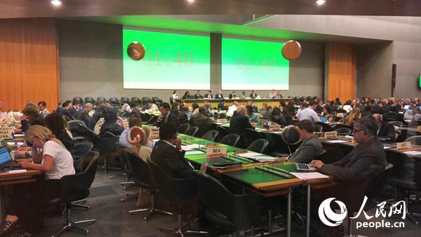 世贸组织对中国第七次贸易政策审议会议现场。记者任彦摄