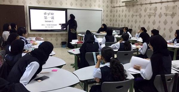 阿联酋称决定将教授中文的学校增加到14所