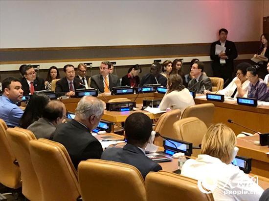 马朝旭呼吁国际社会减少发展不平衡不充分,实现共同发展